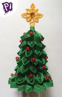 Arbol de Navidad de Filigrana , Quilling Christmas tree Pintaideas