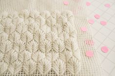 Making a rug using needlepoint stitches on rug canvas. I can't wait to try this! [Karen Barbé · Textile designer · Palm Leaf Stitch – detail]