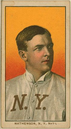 New York Giants legend, Christy Mathewson. From the Benjamin K. Edwards Collection at the Library of Congress.