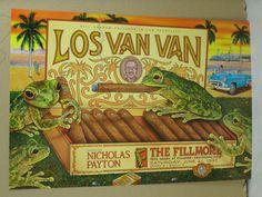 """Fillmore Music Poster    """"Los Van Van""""  Original 1997 Fillmore - San Francisco…"""