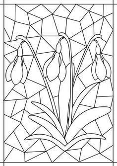 Best Picture For Mandala Art meaning For Your Taste You are looking for something, and Flower Coloring Pages, Colouring Pages, Coloring Books, Stained Glass Patterns, Mosaic Patterns, Spring Art, Spring Crafts, Diy And Crafts, Arts And Crafts