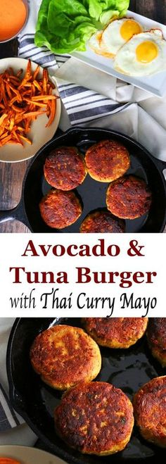 Healthy Avocado and Tuna burger with Thai curry mayo | Thai burger | Tuna burger | avocado burger | healthy burger | Thai mayonnaise