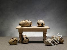 Quail egg and table still life