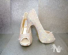 Shoes  Peep Toe High Heels  Wedding Bridesmaid by MyLillieShoes
