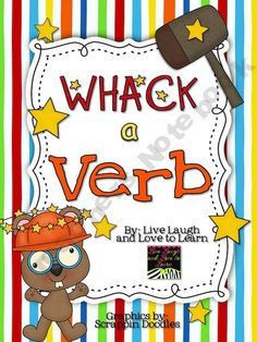 "Whack a Verb is a fun literacy station activity where students sort the word cards to determine which words are verbs.     Includes:  24 word cards (12 verb, 12 not verb)  2 sorting work mats  1 recording sheet    You could also play the game by placing a play hammer in the station. Students could ""whack"" the verb cards, then sort them onto the work mats."