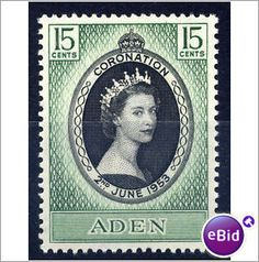 Aden QEII 1953 Coronation Mounted Mint MM SG 47 Sc 47 CD 312 on eBid United Kingdom