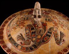 Lidded bowl with Iguana-Jaguar creature, ca. AD 500, Mexico