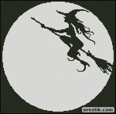 Ведьмочка 3 схема скачать монохром вышивка ведьмочка