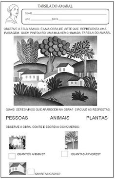 Educação infantil facil: TARSILA DO AMARAL Kids Education, Religion Activities, Kids Learning Activities, Space Activities, Visual Art Lessons, Kid Art, Art History, Famous Artists, Visual Arts