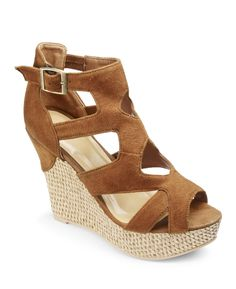 Catwalk Strappy Wedge EEE Fit at Simply Be