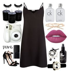 """""""Untitled #1496"""" by teenage-rxjxct ❤ liked on Polyvore featuring Sandro, Calvin Klein, Miss Selfridge, Kate Spade, Lime Crime, STELLA McCARTNEY, NARS Cosmetics and Branca"""