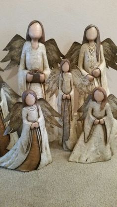 Cyprus Angels 2015 Paper Clay, Clay Art, Ceramic Pottery, Pottery Art, Pottery Angels, Cypress Knees, Wooden Angel, Ceramic Angels, Hand Thrown Pottery