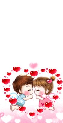 Cute Couple Cartoon, Chibi Couple, Hug Gif, Evening Quotes, Korean Anime, Love Kiss, All Things Cute, Morning Images, Beautiful Words