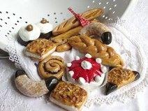 14 Backwaren für Kaufladen -Torte, Semmeln, Brot