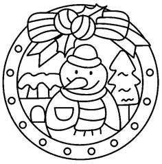 Winter Coloring Page 115 Is A Coloring Page From Winter Coloring - Christmas-mandala-coloring-pages