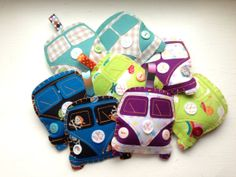 Campervan Christmas Decorations by KirstensLOVEFelts on Etsy
