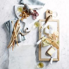 Marble Cheese Knives, Set of 3 - recipes - Marble Cheese Board, Cheese Boards, Cheese Platers, Creative Snacks, Charcuterie And Cheese Board, White Cheese, Cheese Shop, Cheese Party, Le Diner