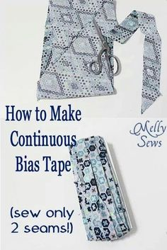 How to make continuos bias tape