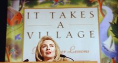 Hillary Rodham Clinton speaks at a benefit for Childrens Hospital of Los Angeles, one stop on her mutli-city tour promoting her book, �It Takes a Village,� Wednesday, Feb. 7, 1996, at the Beverly Hilton Hotel in Beverly Hills, Calif. (AP Photo/Reed Saxon)