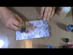 Learn how to emboss tin foil and use alcohol inks in these craft videos. Tutorials like this show you just how simple it is to learn a new technique that add. Card Making Tips, Card Making Tutorials, Card Making Techniques, Art Techniques, Alcohol Ink Crafts, Alcohol Ink Painting, Alcohol Ink Art, Embossing Techniques, Decoupage