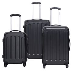 """<p><a href=""""http://fe... #suitcase #black #trolley #travel #luggage #globalway"""