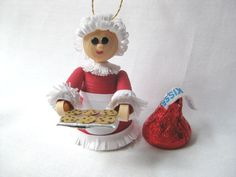 Mrs. Claus quilled Christmas ornament or by fashionedforyouinnh