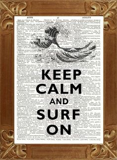 Digitaldruck - Keep calm and surf on Druck - ein Designerstück von PrintLand bei DaWanda