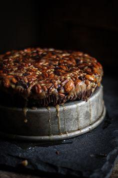 // No-Bake Turtle Upside Down Cake