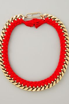 Red Braided Chain Necklace