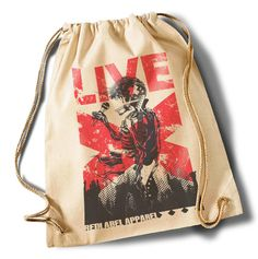 """""""Live""""  Cotton Gymsack/Turnbeutel von MAD IN BERLIN auf DaWanda.com"""