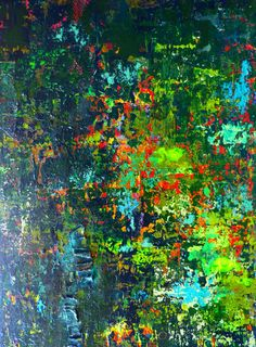 Artwork Abstract Landscape Original Painting Enchanted Forest