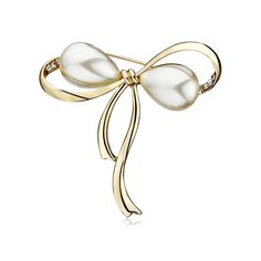 This bow tie brooch features the cute shape and concise design of bow tie.