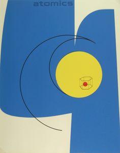 Graphic Design by Matthew Leibowitz (1918-1974), Atomics. #MidMod