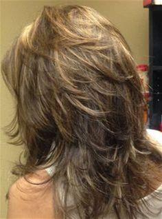 Image result for Medium Length Modern Shag Haircut Back View