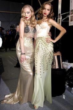 Tanya Dziahileva and Heloise Guerin at Christian Dior SS 10