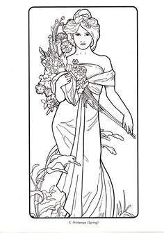 Fabulous Alphonse Mucha Coloring Pages