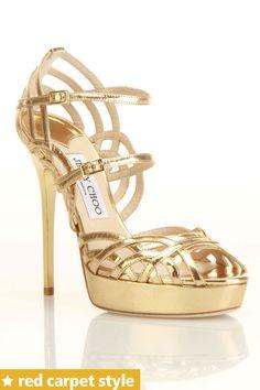 Jimmy Choo Darling Sandal In Gold - Beyond the Rack