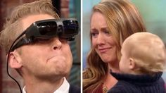 This dad has been blind for 16 years, and he has never laid eyes on his wife or son...