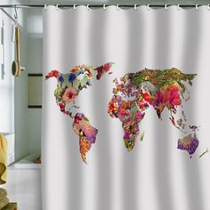 DENY Designs Bianca Green Its Your World Shower Curtain