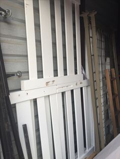 White wooden bunk beds and bunky boards