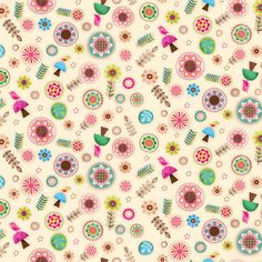 """""""Friendly Forest 4"""" Jessica Flick Collection by AppleBlossomFabrics"""