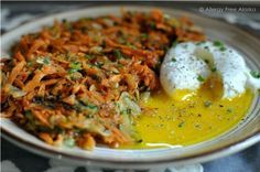 Zucchini & Sweet Potato Hash Browns #paleo