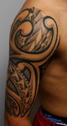tatouage bracelet tribal homme autour du biceps tattoos pinterest biceps et bracelets. Black Bedroom Furniture Sets. Home Design Ideas