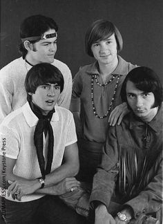 The Monkees.Davy Jones, Peter Tork, Mickey Dolenz and Mike Nesmith Davy Jones Monkees, The Monkees, My Only Love, First Love, Michael Nesmith, Peter Tork, Music People, My Favorite Music, Back In The Day
