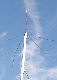 2 Meter Ground Plane Antenna With PVC Support by KC0YNR