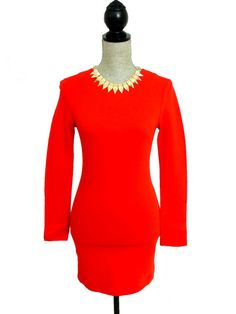 Together At Last Long Sleeve Bodycon Tunic - Red