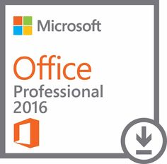 Microsoft Office 2016 Professional - License - 1 PC Download