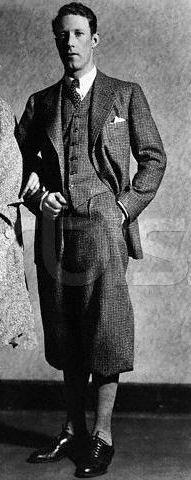 A stylish Plus Fours Suit