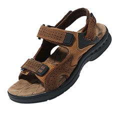 38b552578fa nice iLoveSIA Men s Leather Walking and Hiking Sandals Hiking Sandals