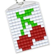 Knutselpakket Pixelhobby sleutelhanger kersen